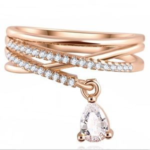 Cz in Gold Ring and Charm
